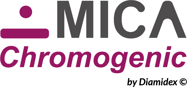 Chromogenic solution with MICA for fast counting